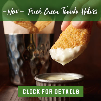New Fried Green Tomato Halves - Click for Rebate
