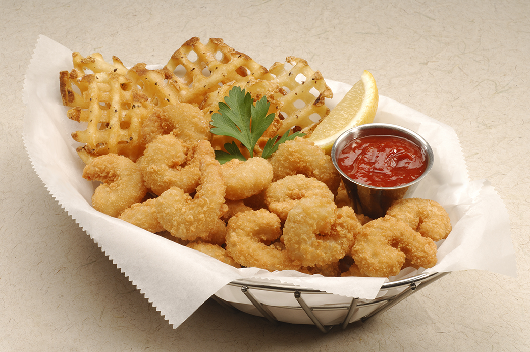 Breaded Popcorn and Mini Shrimp