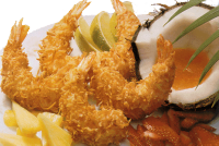 Coconut Breaded Butterfly & Round Shrimp