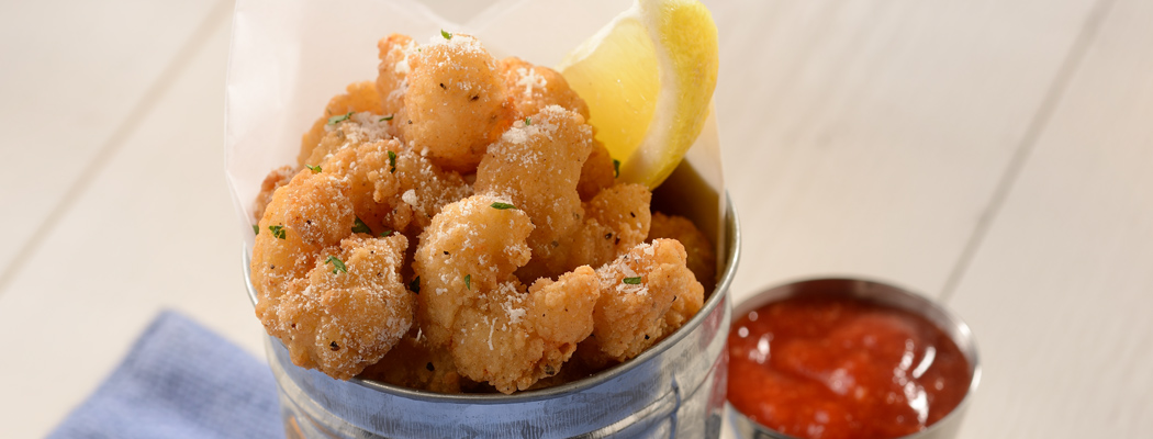 OCEAN INNOVATIONS<sup>®</sup> Dipt'n Dusted<sup>®</sup> Gourmet Popcorn Shrimp