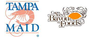 Tampa Maid and Cap'n Joe's Bayou Foods logos