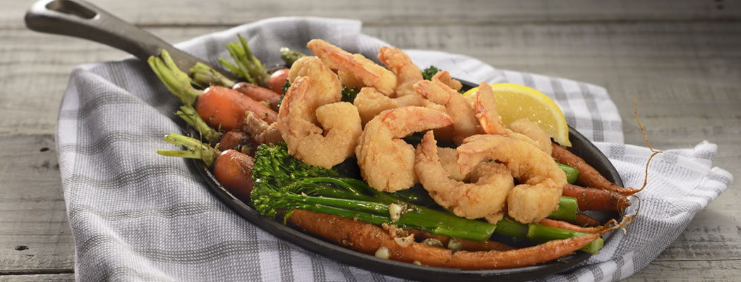 OCEAN INNOVATIONS<sup>®</sup> Dipt'n Dusted<sup>®</sup> <br>Pub-Style Parcut Shrimp